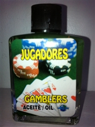 MAGICAL AND DRESSING OIL (ACEITE) 1/2OZ GAMBLERS ( JUGADORES )