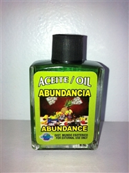 MAGICAL AND DRESSING OIL (ACEITE) 1/2OZ ABUNDANCE (ABUNDANCIA)