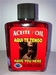 MAGICAL AND DRESSING OIL (ACEITE) 1/2OZ I HAVE YOU (AQUI TE TENGO)