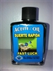 MAGICAL AND DRESSING OIL (ACEITE) 1/2OZ FAST LUCK (SUERTE RAPIDA)