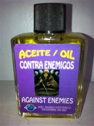 MAGICAL AND DRESSING OIL (ACEITE) 1/2OZ AGAINST ENEMIES ( CONTRA ENEMIGOS )