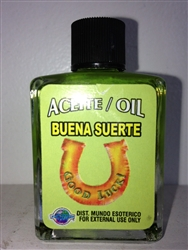 MAGICAL AND DRESSING OIL (ACEITE) 1/2 OZ FOR GOOD LUCK (BUENA SUERTE)