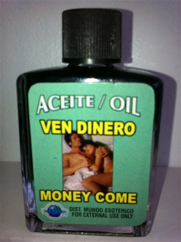 MAGICAL AND DRESSING OIL (ACEITE) 1/2 OZ FOR MONEY DRAWING / MONEY COME  (VEN DINERO)