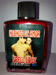 MAGICAL AND DRESSING OIL (ACEITE) 1/2 OZ FOR LOVE SPELL (HECHIZO DE AMOR)