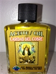 MAGICAL AND DRESSING OIL (ACEITE) 1/2OZ OUR LADY OF CHARITY (CARIDAD DEL COBRE)