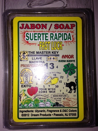 SPIRITUAL BAR SOAP GLYCERIN (JABON) FOR FAST LUCK (SUERTE RAPIDA)