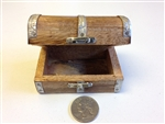 HAND MADE WOOD TREASURE CHEST / TRINKET BOX / SPIRITUAL JOB BOX WITH METAL CLASP