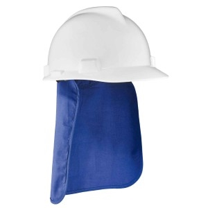 Evaporative Cooling Hard Hat Pad w/ Neck Shade, Blue