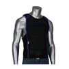 EZ COOL EVAPORATE COOLING TANK TOP, BLK W/ BLUE TRIM, SIDE ZIP CLOSURE
