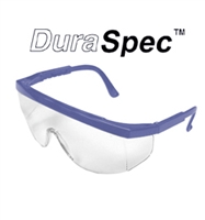 "DuraSpecâ""¢ Safety Glasses, Clear Lens, Blue Frame"