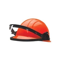 ALUMINUM FACE-SHIELD CARRIER (hard hat shown, not included)