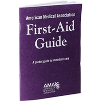 AMA FIRST AID GUIDE BOOK, 40 page, 4in x 5.5in