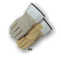 Fleece Lined Pigskin Palm Work Gloves, Kevlar Sewn