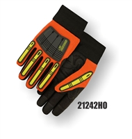 Knucklehead X10 HiViz Mechanics Gloves- Orange