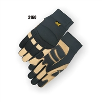 Black Eagle Pigskin Palm Mechanics Gloves- Black & Tan