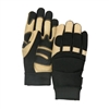Black Eagle Thinsulate Lined Mechanics Gloves- Black & Tan