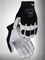 Caiman Mechanics Gloves, White Goatskin Leather- XLarge