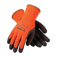 Power Grab Thermo Lined Gloves, Hi Viz Orange, Brown MicroFinish