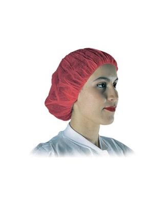 BOUFFANT CAP, 24in, RED, 500/cs