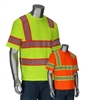 HI VIZ Short Sleeve Shirt, Two-Toned w/ Segmented Tape, ANSI Type R Class 3