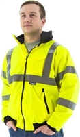 Hi VIZ Waterproof Jacket, Fleece Lined, ANSI 3