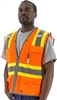 MESH VEST, HI VIZ ORANGE, LEVEL 2, CLR POCKET, DOT STRIPING, REFLECTIVE TRIP, D-RING SLOT