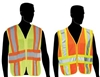 Safety Vest, with Reflective, ANSI II, Adjustable Sides