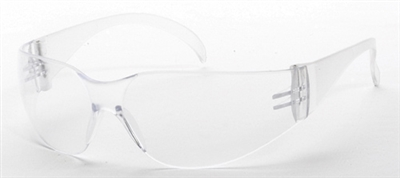 Safety Glass F-1 Rimless Clear Lens