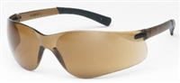 Safety Eyewear, Fuse II Brown Frame, Brown lens