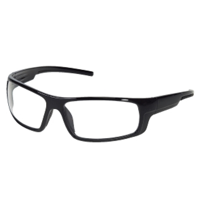 ENFORCER CLEAR LENS, BLACK FRAME
