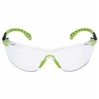 3M SOLUS 1000 SAFETY GLASS GREEN/BLACK FRAME, CLEAR ANTI-FOG LENS