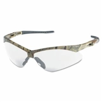 NEMESIS Anti-Fog/Anti-Scratch Safety Glasses, Clear Lens, Camo Frame