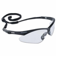 NEMESIS Anti-Fog, Scratch-Resistant Safety Glasses , Clear Lens, Black Frame
