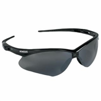 NEMESIS Safety Glasses, Smoke Mirror Lens, Black Frame
