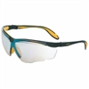 Honeywell UvexTM Genesis X2TM Safety Glasses, Anti-Scratch, SCT-Reflect 50 Lens, Ultra-dura, Black/Yellow Frame