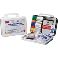 First Aid Kit Auto Vehicle Hard Case 93 pieces