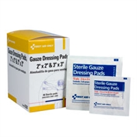 Gauze Pad Combo Box, 24 packs of 2 x 2  & 24 packs of 3 x 3, per box