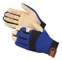 Golden Knight Premium Pigskin Palm Mechanics Gloves
