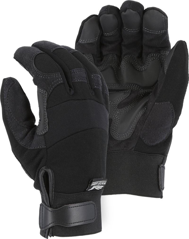 Armor Skin Hawk Mechanic Style Glove With Heat Lok Wear Patches