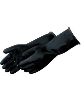 18inch BLACK RUBBER GLOVE, 40MIL