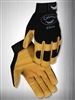 Caiman Mechanics Gloves, Gold Goatskin Leather, Size: XLarge
