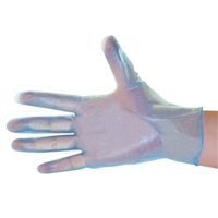 Vinyl gloves blue industrial grade 5 mil powdered 100 box