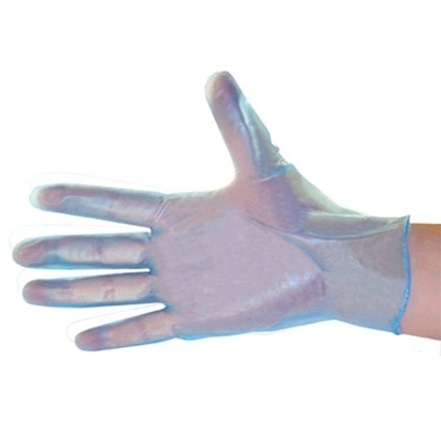 Vinyl 5mil Disposable Gloves, Industrial Grade, Clear Blue, Powdered