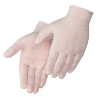 Vinyl exam gloves, medical grade, 5 mil, powder-free, 100 per box