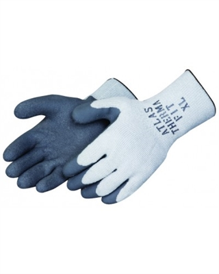Showa Atlas 300i Thermal Fit Gloves, Latex Palm- Grey