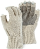 Heavyweight Wool Gloves, PVC Dotted Palm, Fingerless