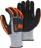 X15 Cut & Impact Resistant Gloves, HPPE Knit, Double Sandy Nitrile Coated