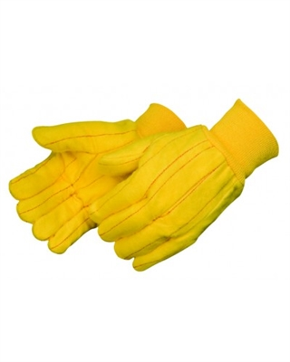 CHORE GLOVES, GOLDEN HVY WT, COTTON