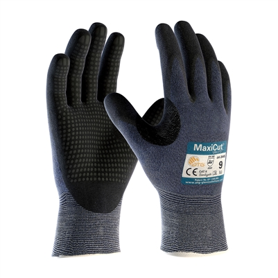 MAXICUT ULTRA GLOVE, MICRO-FOAM NITRILE COATED P&FT, BLUE ENG SHELL, CUT LVL 5