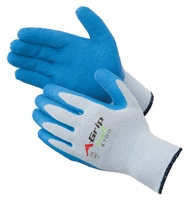 Gloves, A-Grip Premium Textured Blue Latex Palm